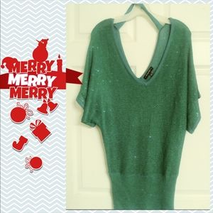 Baby Phat green glitter top